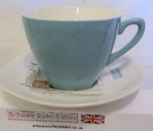 Midwinter 'Cannes' Cups with 5.5 inch Saucers - 4 available OUT OF STOCK